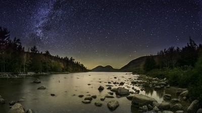 Milky Way & Aurora Borealis over The Bubbles_DSC1151-60+64