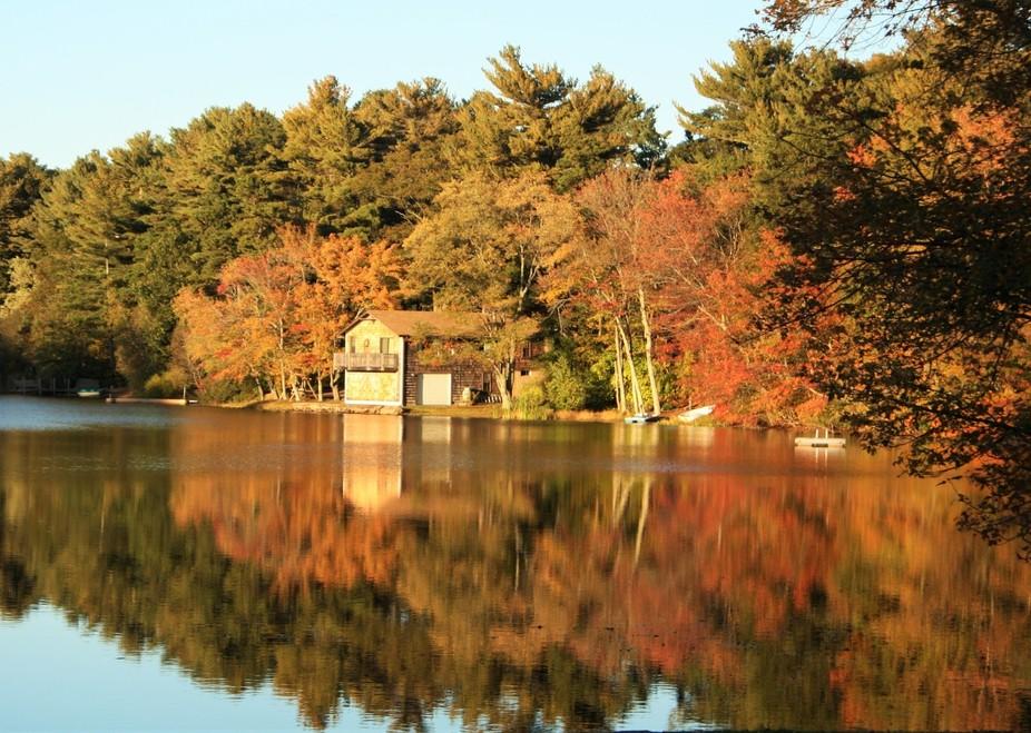 Fall Foliage at Clear Pond  Plymouth, MA Cheryl Leonard, Photographer
