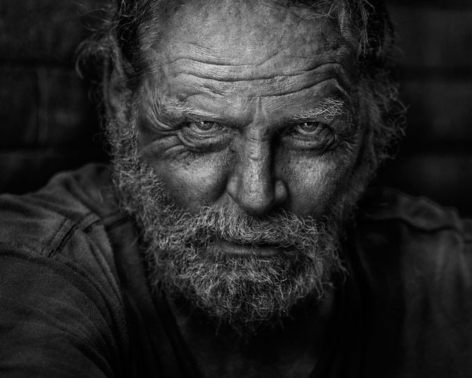 Dark soul of man(#9) by RussElkins - Street Portraits Photo Contest
