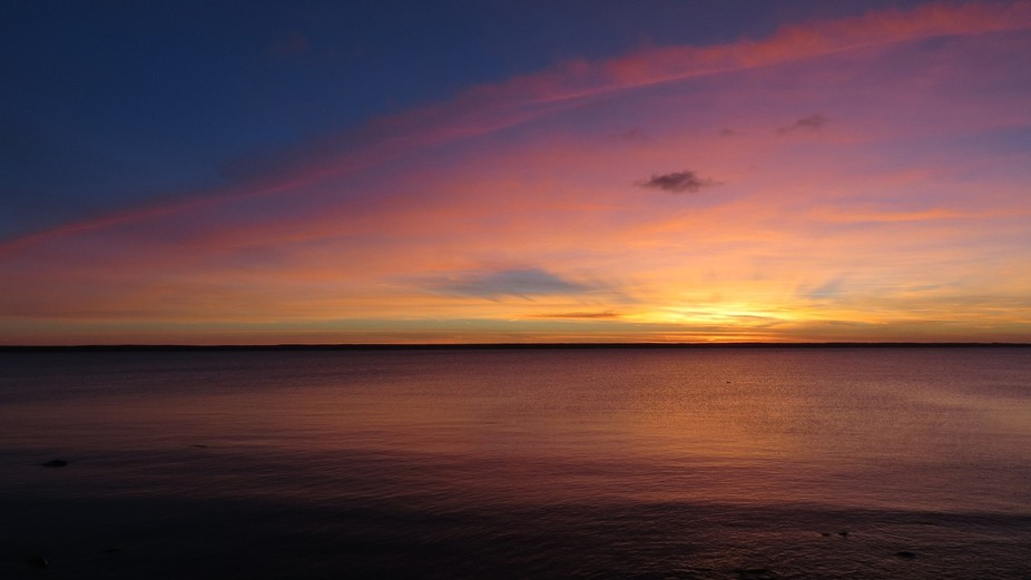 Sunset in Februaru 15-th in Pärispea peninsula
