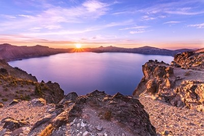 Golden Hour at Crater Lake