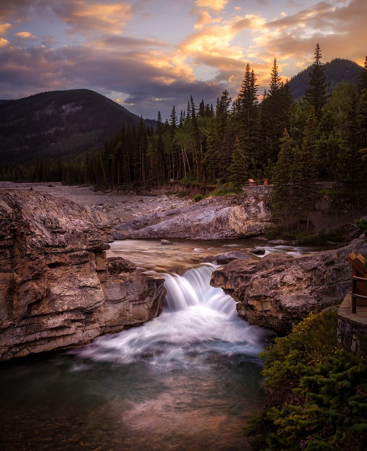 Elbow Falls Sunset by chadmcmahon - The Four Elements Photo Contest