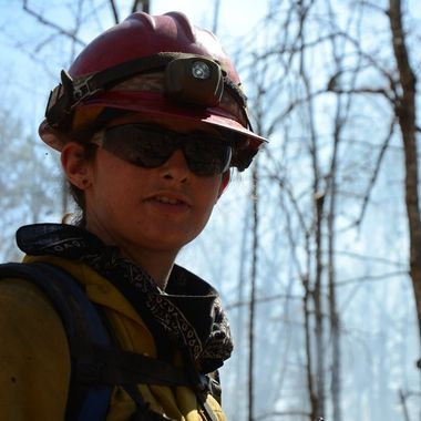 Member of the St Louis Emergency Response Team responding to a wildfire