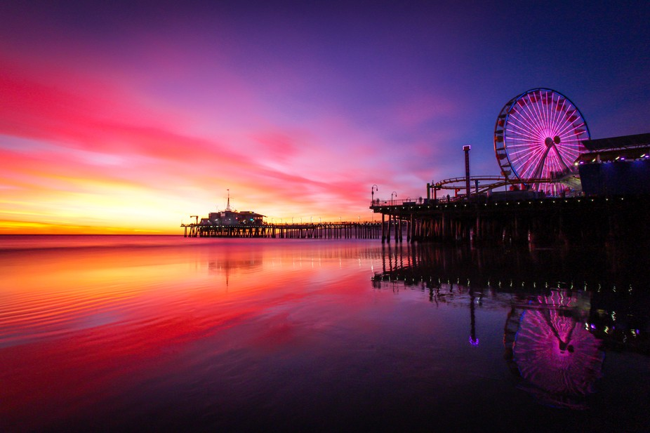 Santa Monica Sunset at the pier