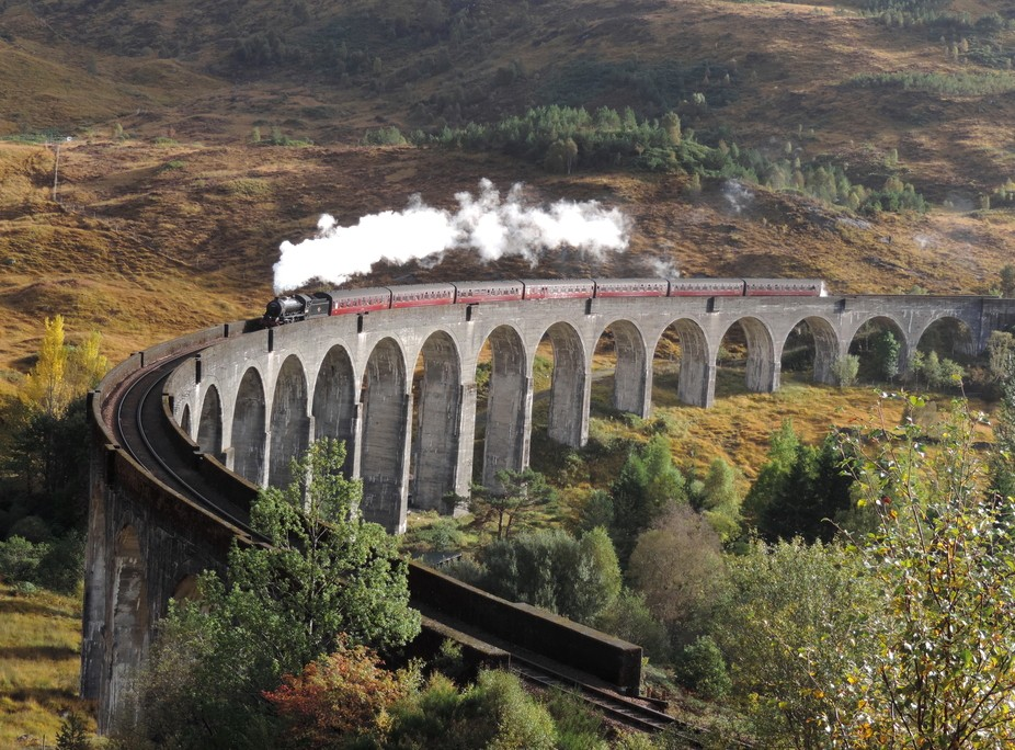 Jacobite Express on Glenfinnan viaduct