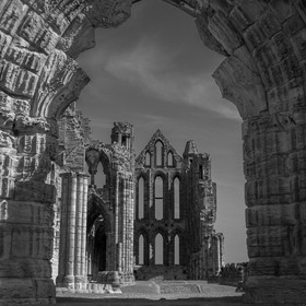 Doorway back in time, Whitby Abbey, UK.