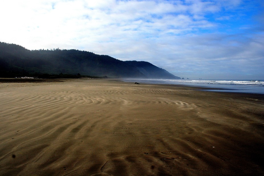 An early morning stroll before the visitors arrived.  I took this shot during low tide.  The rece...