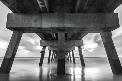 Black and White Pier