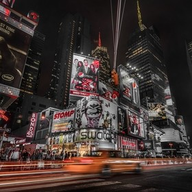 New York, Sept 2011  - Nikon D3X, 14-24mm Lens, Photoshop CC, ISO200 f4 1/15 sec....(light trails added in photoshop)