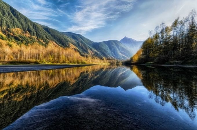 Reflections and Sunset by smunited - Fall 2017 Photo Contest