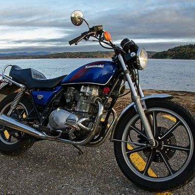 My 1984 Kawasaki 440 ltd is finally back on the road.  This shot was taken near the Westfiled ferry landing in my area.