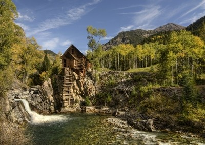 Crystal Mill Colorado Fall