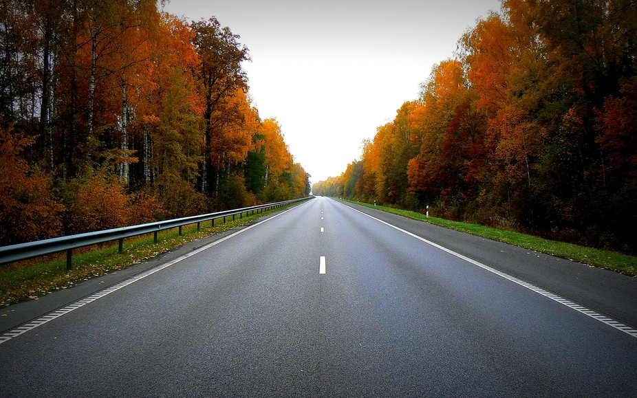 An empty road is very beautiful :))
