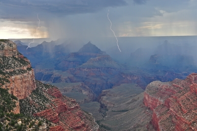 Storm in the Canyon, Pipe Creek Vista, GCNP
