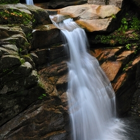 Sabbaday Falls, White Mountains, NH - This beautiful waterfall is just a short hike off the Kancamagas Highway.