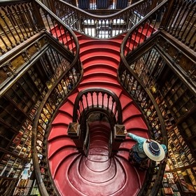 J.K.Rowling used to visit this bookshop when she lived in Oporto and it is said that these are the stairs that inspired her to create the crazy s...