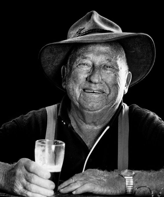 Old Bill is a happy old fellow. He is 93 years of age and a big part of the community. When he is not tending to his sheep he drives the old people to and fro to their events. To can easily meet him in the local for a yarn and cold beer.