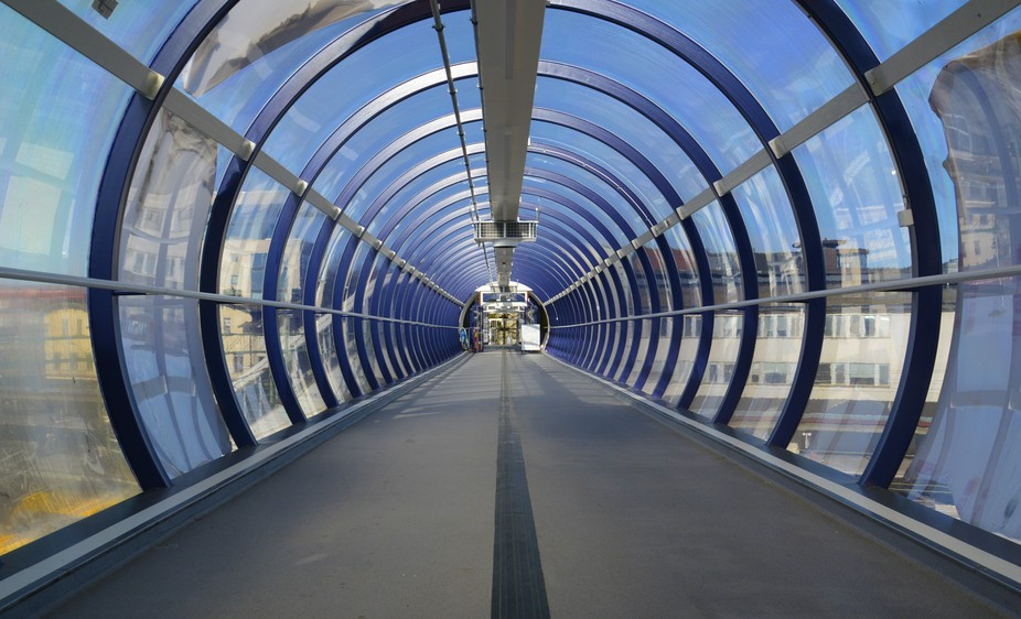 The Tube is an walkingpath in our trainstation in skövde sveden