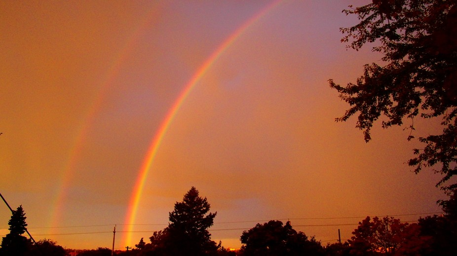 For a very short time, I had the rare opportunity to get a shot of this magnificent double rainbo...