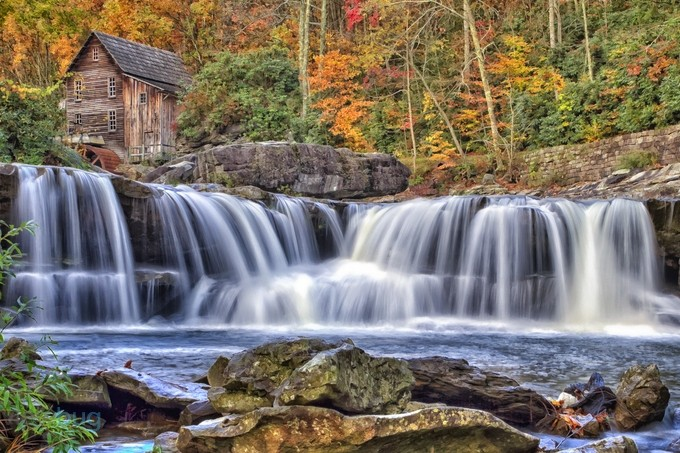 NVP-Babcock State Park-Autumn 2014 by fifer1812 - Beautiful Waterfalls Photo Contest