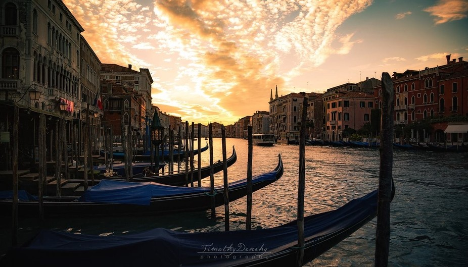 Sunset on the Grand Canal, Venice Italy