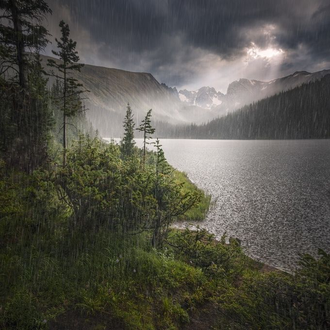 Hard rain by MedicineWalkPhotographer