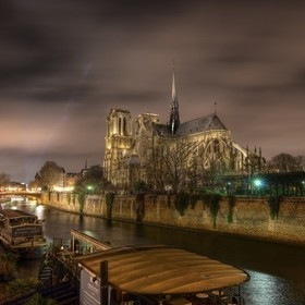 One of my favorite views in Paris is of Notre Dame. Night is the time I think the city looks the most beautiful.