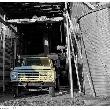 Truck at Silo, Gatesville, NC