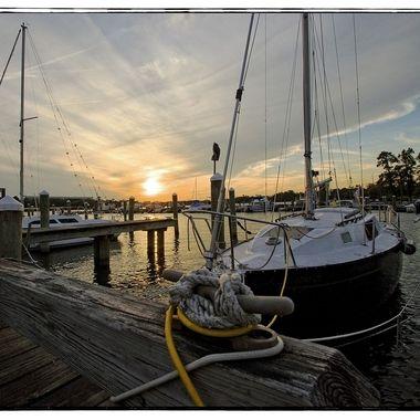 Sunset on the Albemarle Sound, NC
