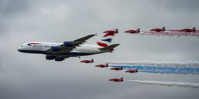 A380 and escort