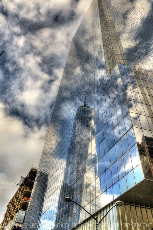 Reflection Freedom Tower N.Y. by LAGE - Skywards Photo Contest