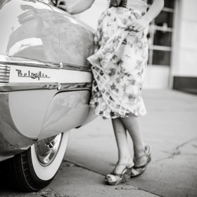 Another shot from my vintage shoot.  Beautiful girl and a beautiful car.  So much fun!