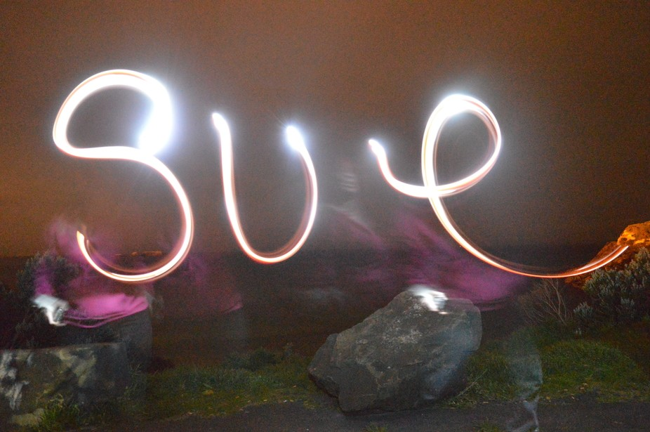 Light painting trails