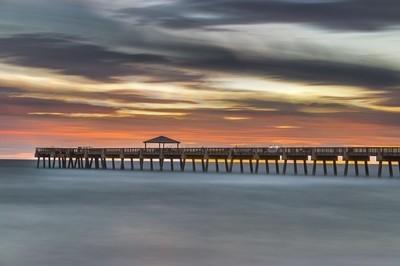 Juno Beach Pier Long Exposure