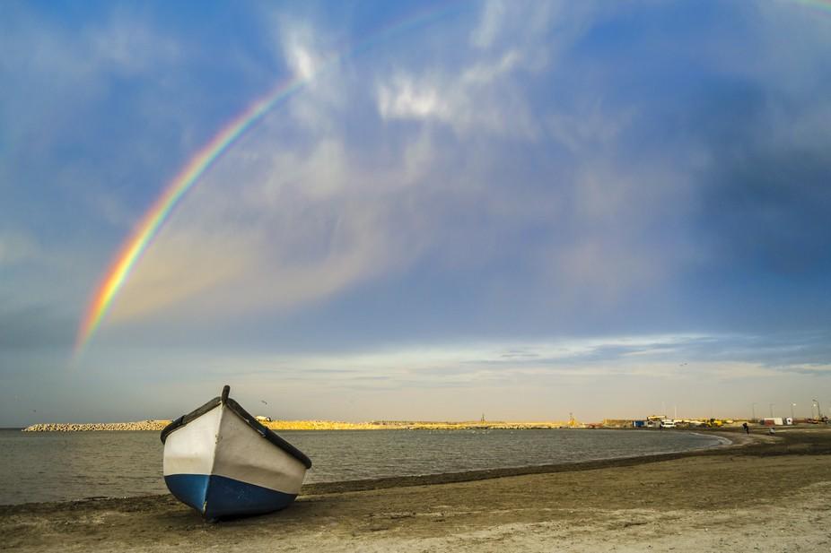 Rainbow at black sea