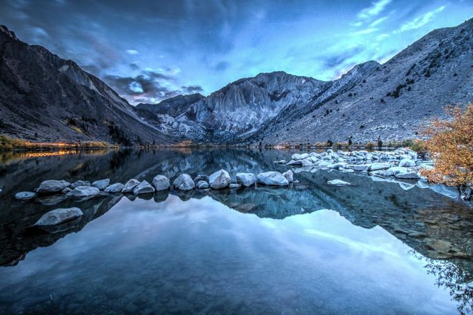 Convict Lake Sunset by wandaparsons - A World Of Blue Photo Contest