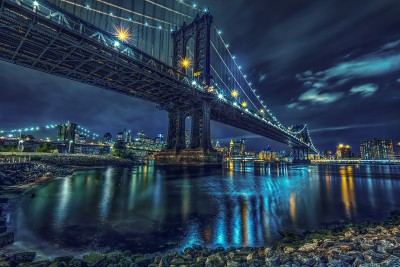 Manhattan Bridge At 2am