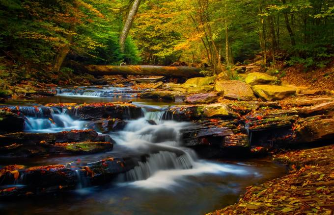 Autumn Waterfalls by GPictoria - Long Exposure Views Photo Contest
