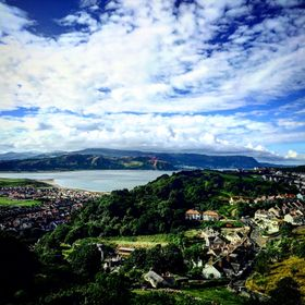 View of Llandudno in north wales, from the peak of Great Orme on a perfect summers day.