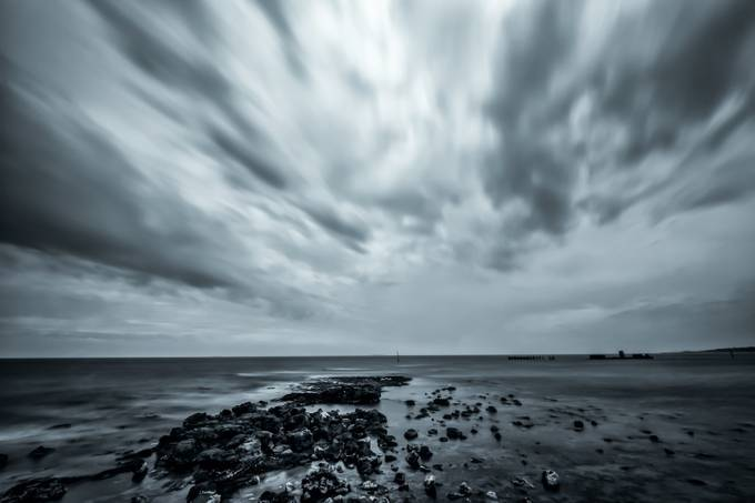 cloudy B&W by r----s - The Moving Clouds Photo Contest