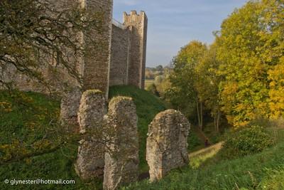 Framlingham Castle bridge - Autumn