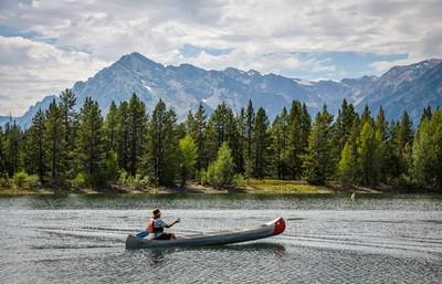 Jackson Lake Paddler
