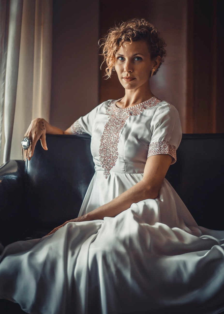 Cristen White Dress by JohnGibsonVisuals - Elegant Moments Photo Contest