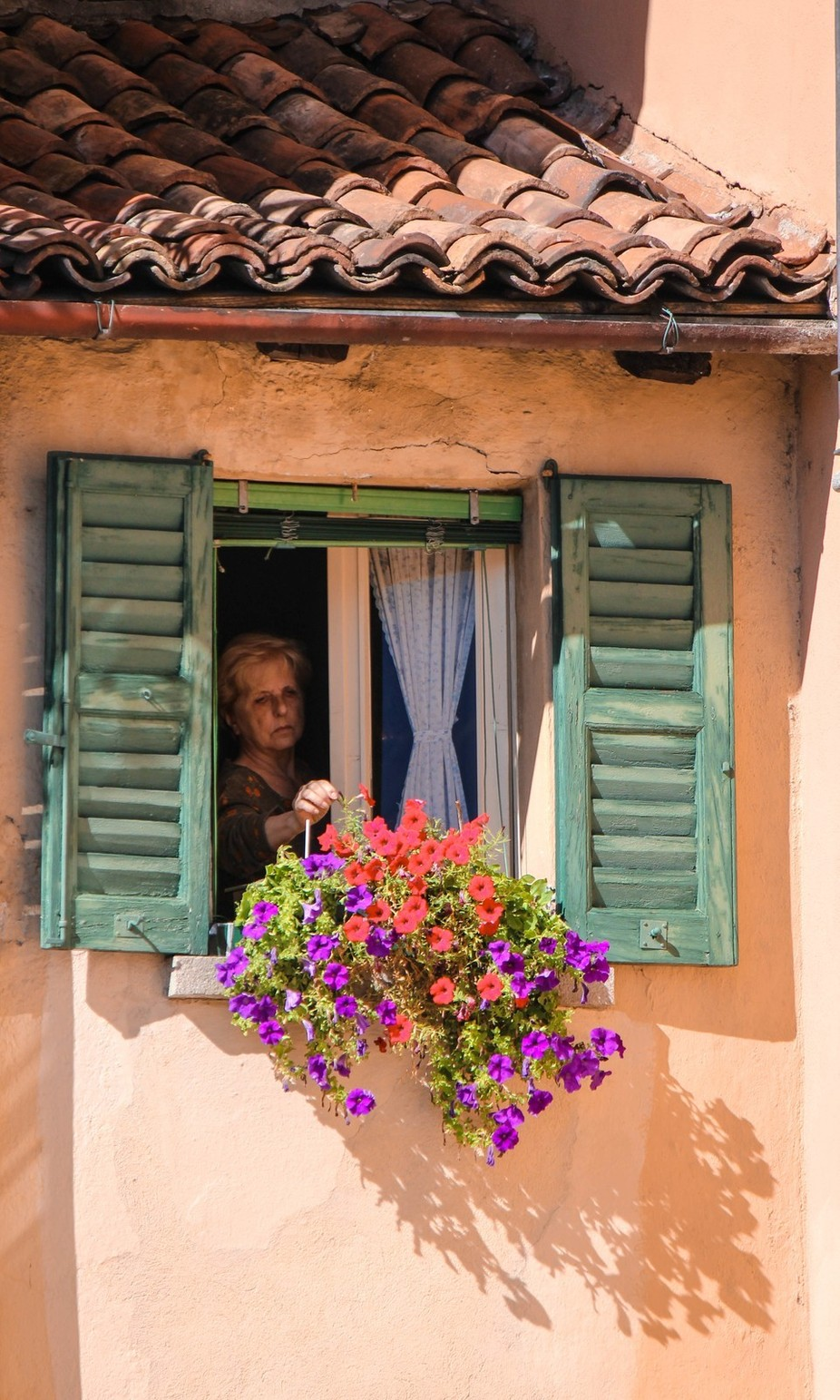 A street capture in a  lovely Italian town near Lake Cuomo, Northern Italy.