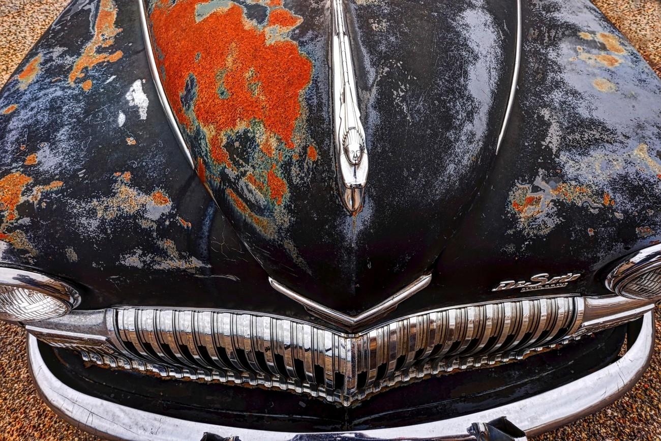 An old DeSoto automobile in Tulia, Texas