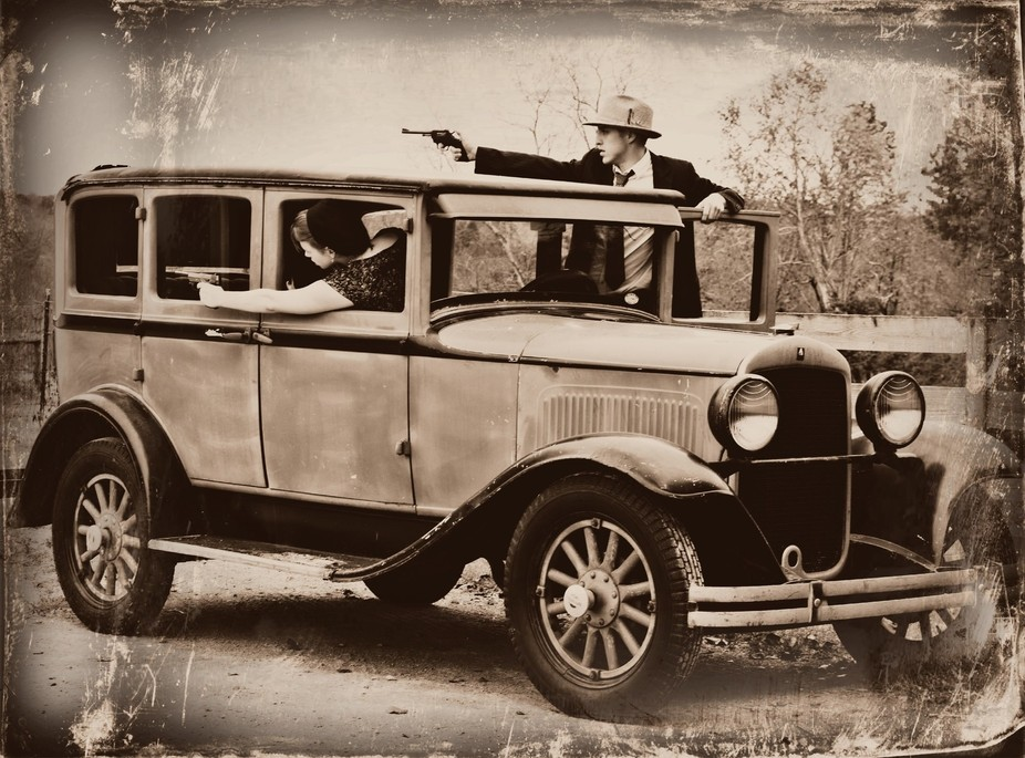 This was taken during my Bonnie & Clyde photo session.