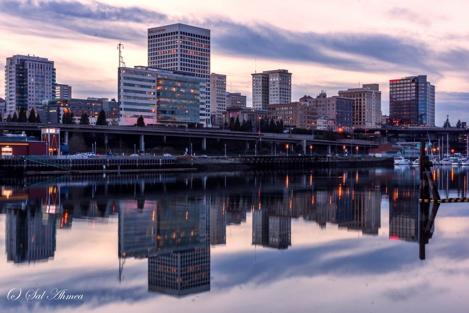 Taken In Tacoma's Waterfront during a twilight time. Sony Alpha-77 with Sony 16-50mm f/2...