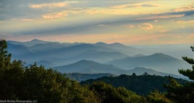 Dusk in the Appalachians