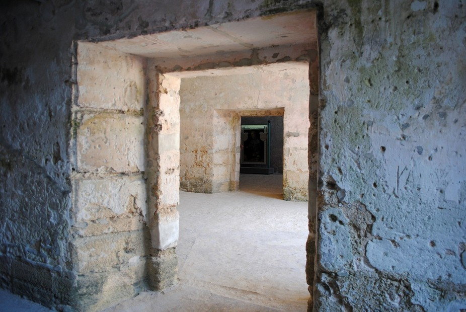 Exploring the old Castillo de San Marcos fort in St. Augustine.
