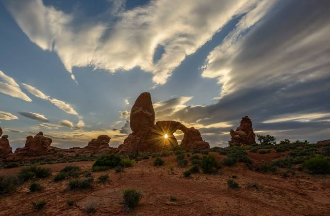 Turret Arch Beams by GabrielCarlsonCreations - The Moving Clouds Photo Contest